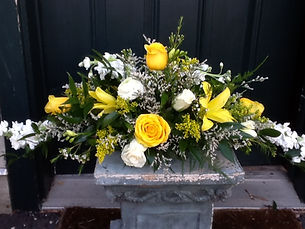 yellow wedding bridal flowers bouquet
