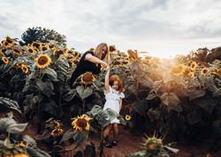 Amanda + Alyssa Sunflower field
