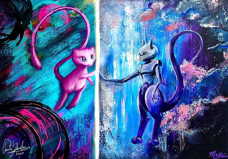 Mew & Mewtwo