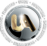 United Association Logo - White Text Dro