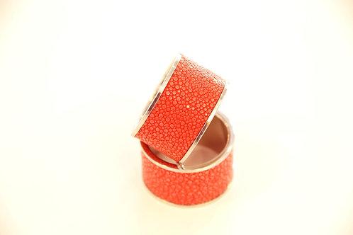 Napkin Rings set Red