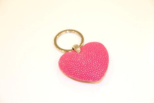 Heart Key ring Fuxia