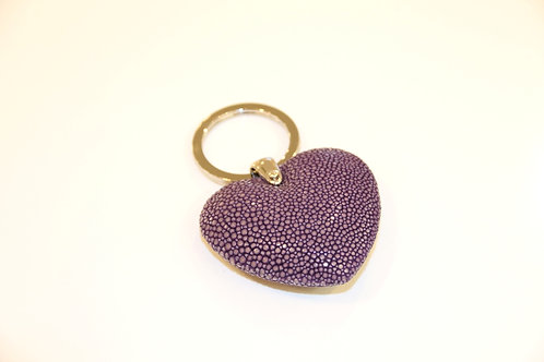 Heart Key ring Purple