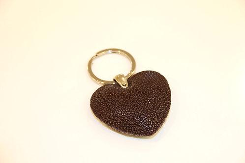 Heart Key ring Chocolate