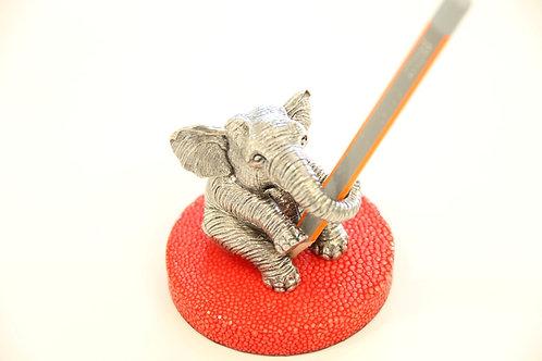 Elephant Pen holder Red