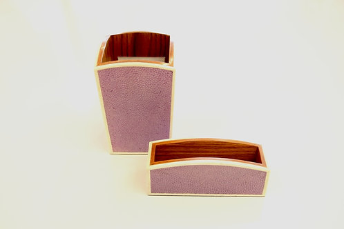 Pen & Card Holder Set Purple