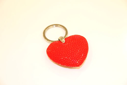 Heart Key ring Red