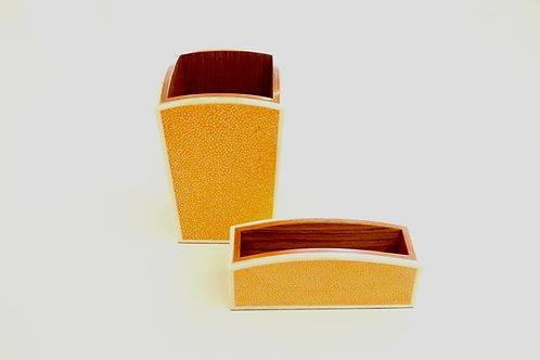 Pen & Card Holder Set Orange