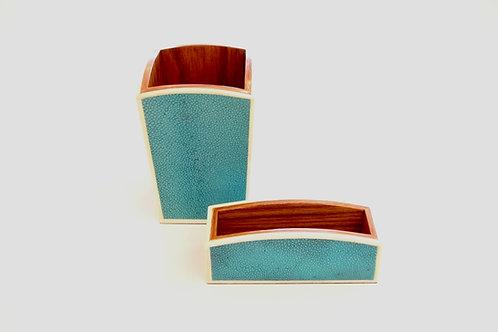 Pen & Card Holder Set Turquoise