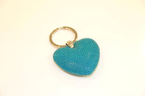 Heart Key ring Turquoise