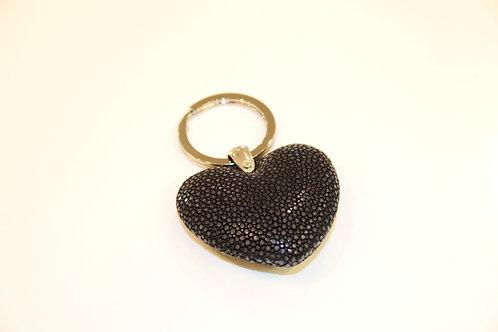 Heart Key ring Black
