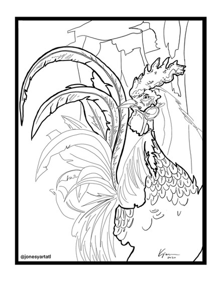 ROOSTER 1 coloring page