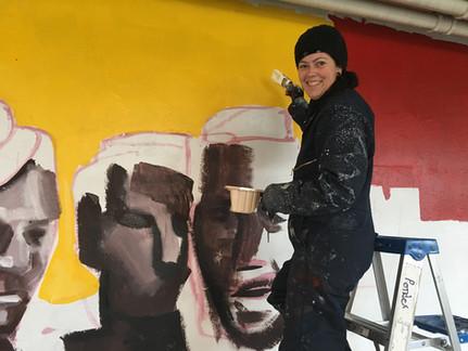 Jonesy painting background