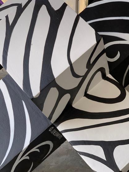 Marta bollard mural by Jonesy Art Atl