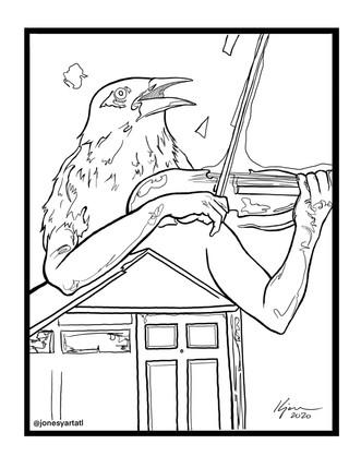 AUDIO HALLUCINATIONS coloring page