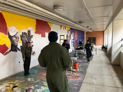 Fredrick Douglas H.S. mural process photo