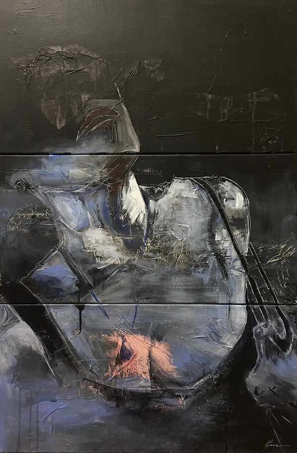 [Pulled Apart] tryptic_60.96cm x 91.44cm