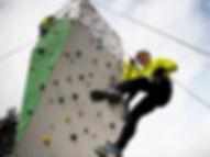 Klatring på Levring Efterskole - Adventure Sport linie