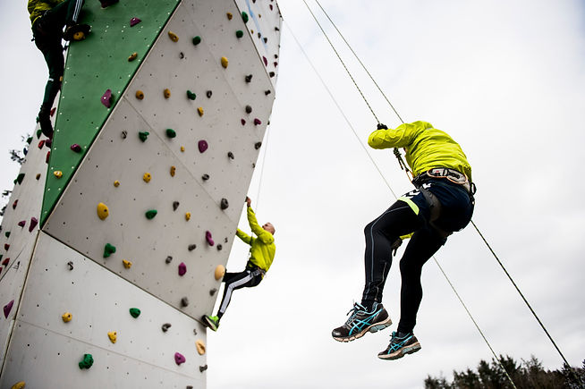 Klatring på linien Adventure Sport på Levring Efterskole
