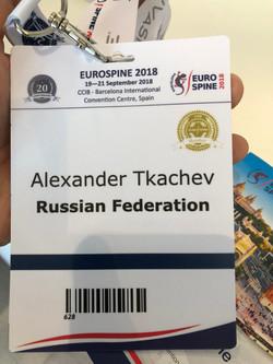 участие в Eurospine 2018