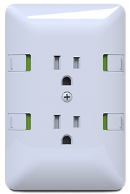 Pinch Safe Outlet - Duplex Cover - Front View image