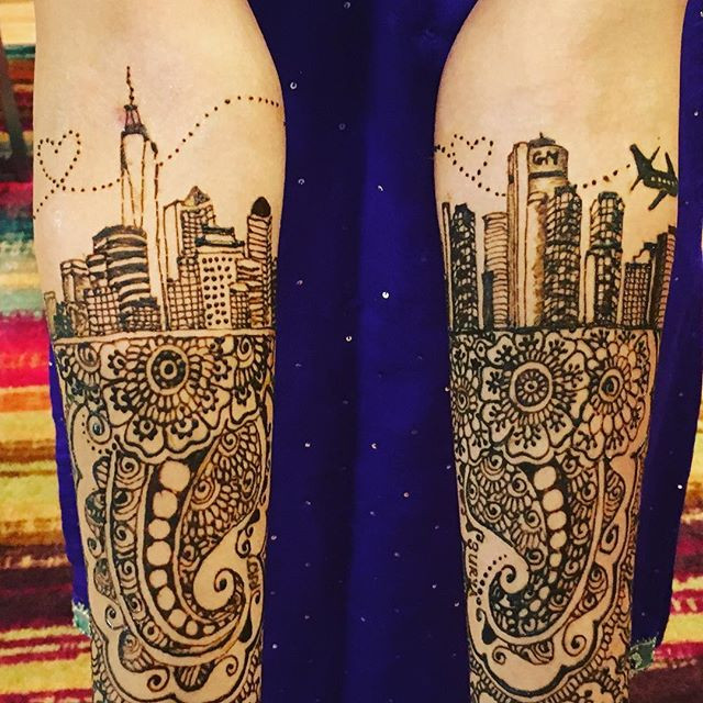 Close up of the Detroit & NY skylines! #