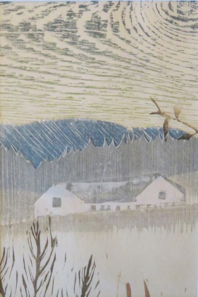 Farmhouse in Blue and Grey