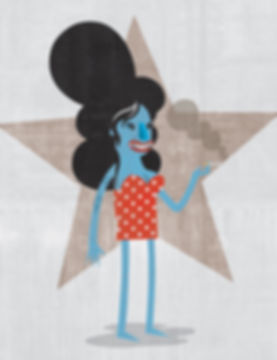 Matt Oxborrow, Illustration, Art Direction, character Design. Amy Winehouse Caricature