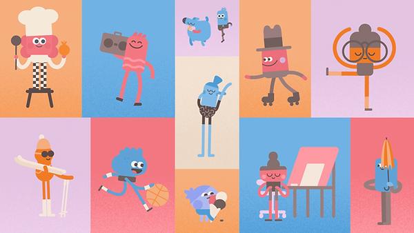 Headspace character design by Matt Oxborrow for Nexus Studios