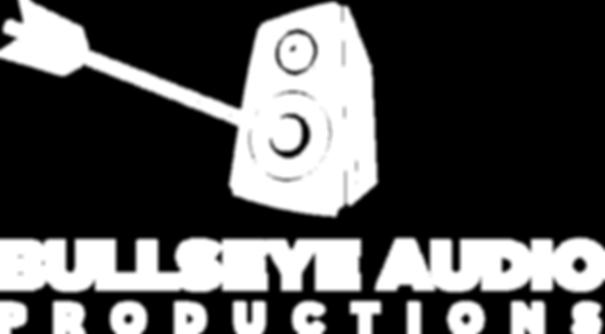 Bullseye Audio Logo White
