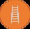 Ladder safety icon