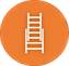 Ladder safety icon