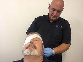 First aid eye injury
