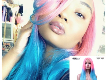 Aliexpress Wig Review Rainbow Hair