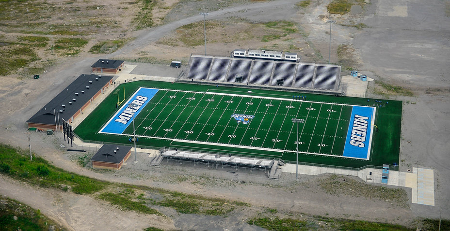 "The Home of Mingo Central Football: James H. ""Buck"" Harless Stadium"
