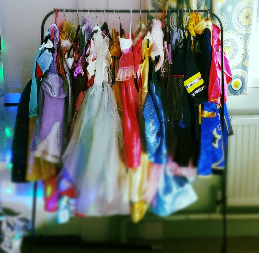 Costumes waiting for kids