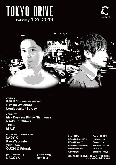 KEN ISHII,HIROSHI WATANABE,LOUDSPEAKER SURVEY,CONTACT TOKYO