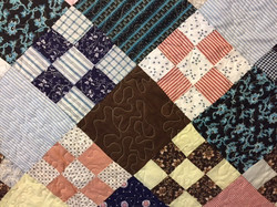 Closeup of 1952 Quilt top that was quilted with meandering stitch for Kris K..jpg