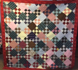 A 1952 Quilt for Kris K of her grandmother's top with 108 inch wide backing used..jpg