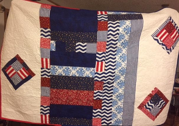 Back of flag quilt.  Also her design for the backing by Esther G..jpg