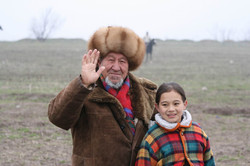 1 Kyrgyz grandfather & grand-daughter