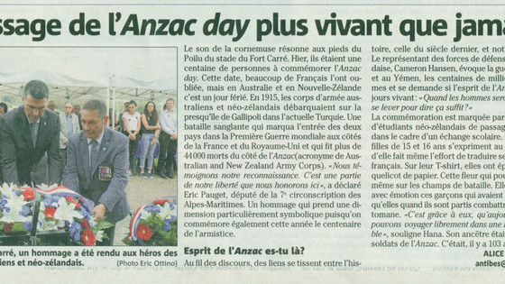 Is the ANZAC Spirit still alive in Antibes? More than ever..