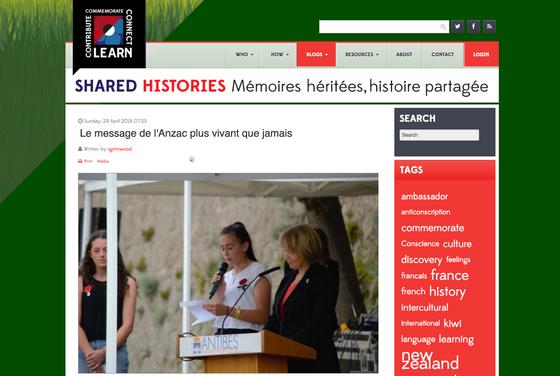 Shared Histories, Mémoires héritées, histoire partagé
