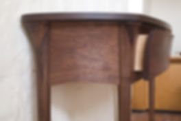 Walnut hall console table and bench hardwood