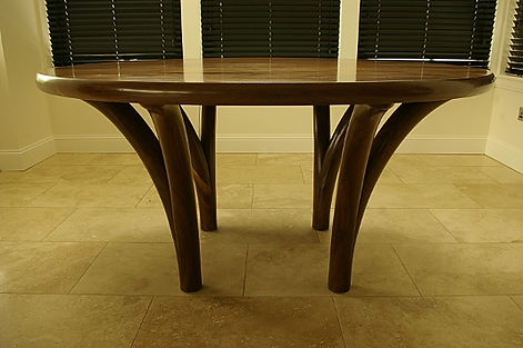 Extending solid walnut dining kitchen table to seat 8 to 12