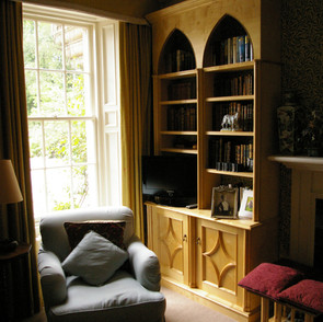 A bookcase designed to compliment an existing design