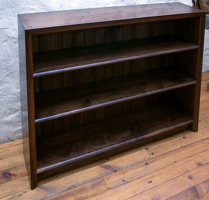 Walnut book case with decorative dovetails