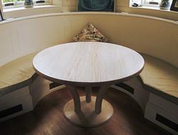 Limed ash circular table
