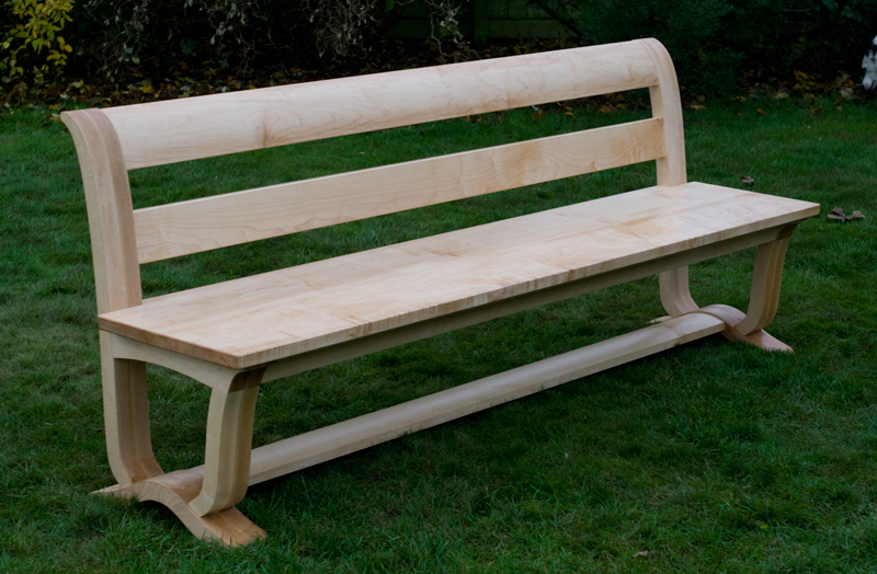 Maple refectory bench