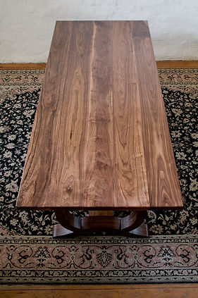 Walnut refectory dining table   walnut kitchen refectory-style table
